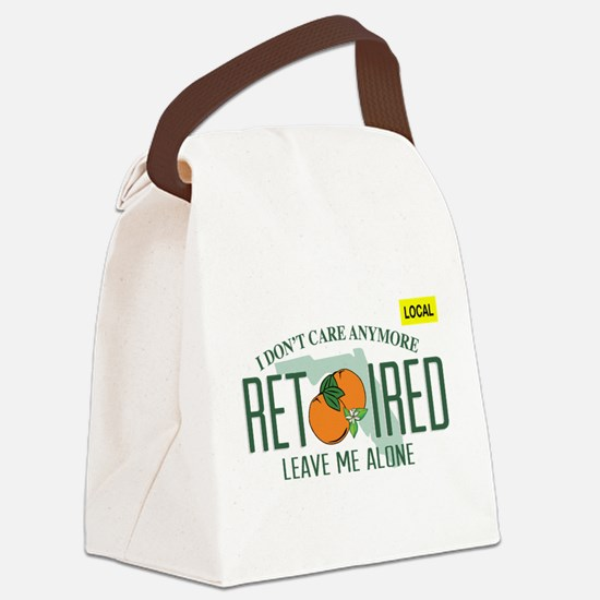 Funny Florida Retired License Pla Canvas Lunch Bag