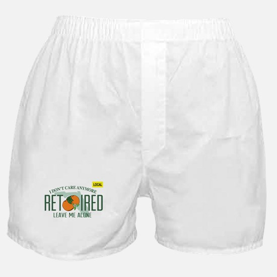 Funny Florida Retired License Plate Boxer Shorts