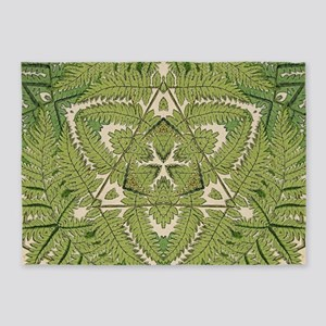 hip fern leaf bohemian 5'x7'Area Rug