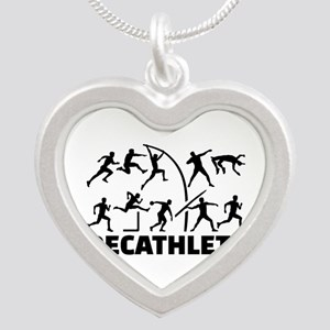Decathlete Silver Heart Necklace