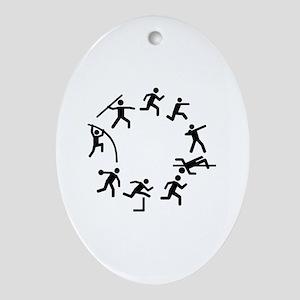 Decathlon Oval Ornament