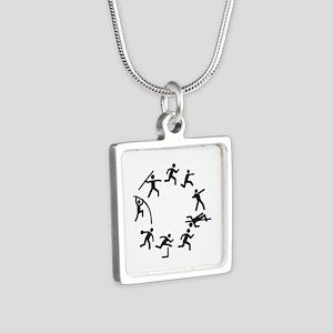 Decathlon Silver Square Necklace