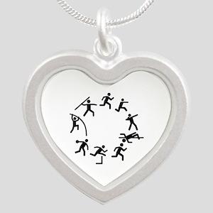 Decathlon Silver Heart Necklace