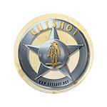 """Gutshot Badge 3.5"""" Button (100 pack)"""