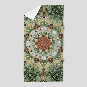 botanical bohemian boho floral Beach Towel