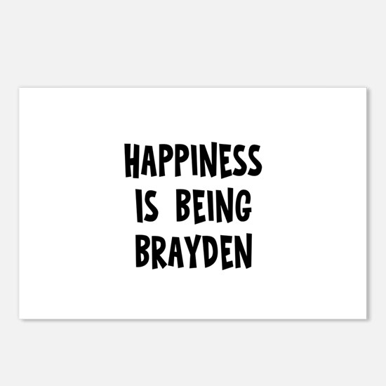Happiness is being Brayden Postcards (Package of