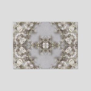 boho chic mandala bohemian lace 5'x7'Area Rug
