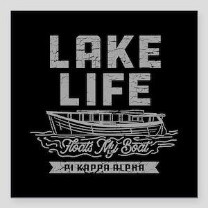 """Pi Kappa Alpha Lake Square Car Magnet 3"""" x 3"""""""