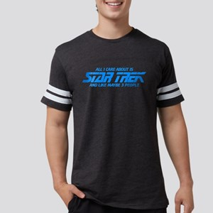All I Care About is Star Trek Mens Football Shirt