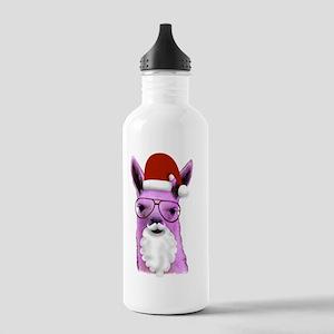 Christmas Santa Llama! Stainless Water Bottle 1.0L