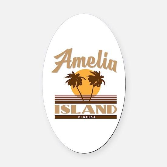Cute Amelia Oval Car Magnet