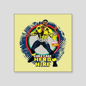 "Luke Cage Classic Grunge Square Sticker 3"" x 3"""