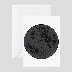 Black Moon Greeting Cards