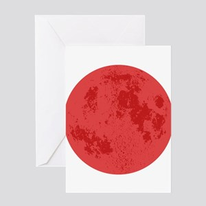 Red Moon Greeting Cards