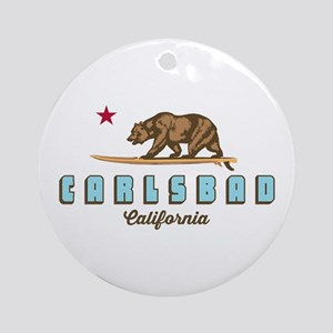 Carlsbad - California. Round Ornament
