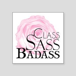 Class, Sass, Badass Sticker