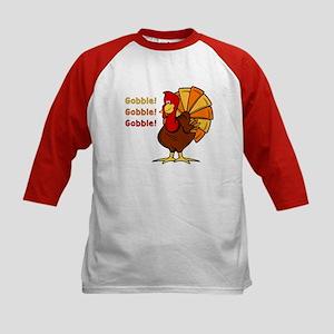 Gobble Turkey Kids Baseball Jersey