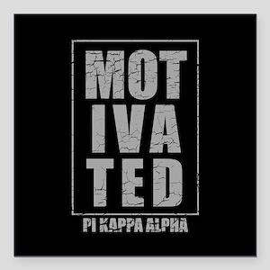 "Pi Kappa Alpha Motivated Square Car Magnet 3"" x 3"""