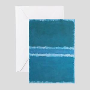ROTHKO_SHADES OF BLUE Greeting Cards