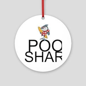 Pool Shark Round Ornament