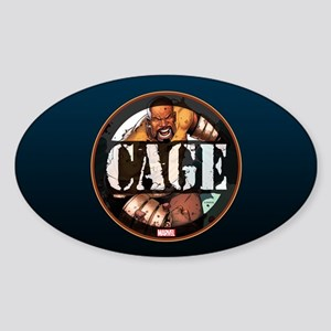 Luke Cage Badge Sticker (Oval)