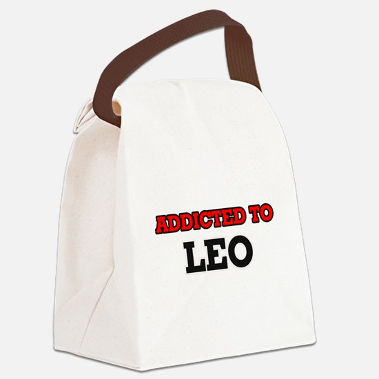 Addicted to Leo Canvas Lunch Bag