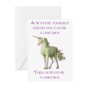 Funny unicorn greeting cards cafepress m4hsunfo