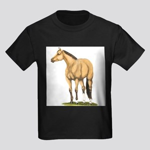 Tate, Buckskin Stallion Kids Dark T-Shirt