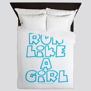 RUN LIKE A GIRL Queen Duvet