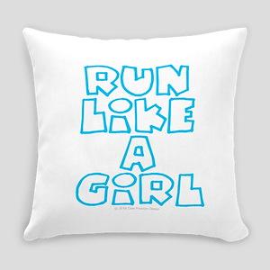 RUN LIKE A GIRL Everyday Pillow