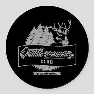 Pi Kappa Alpha Outdoorsman Round Car Magnet
