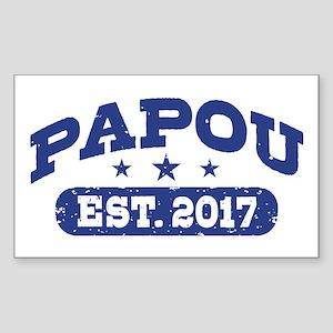 Papou Est. 2017 Sticker (Rectangle)