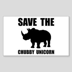 Chubby Unicorn Rhino Sticker