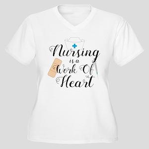 Nursing Is A Work Women's Plus Size V-Neck T-Shirt
