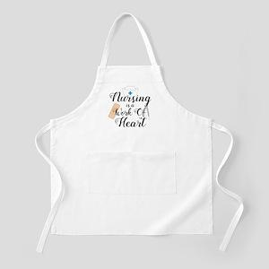 Nursing Is A Work Of Heart Light Apron
