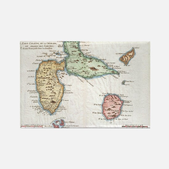 Cute Antique map Rectangle Magnet