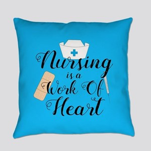 Nursing Is A Work Of Heart Everyday Pillow
