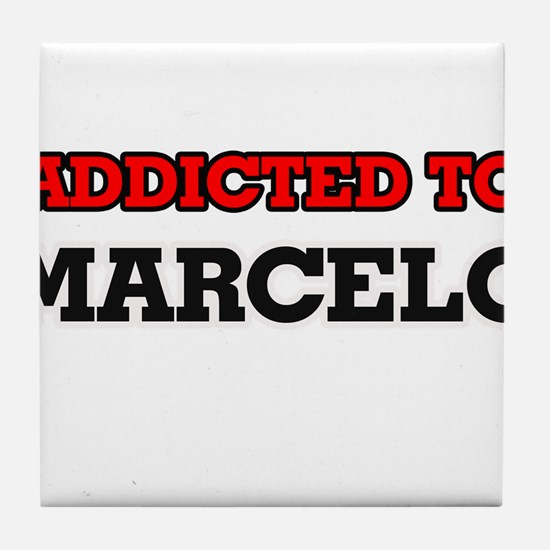 Addicted to Marcelo Tile Coaster