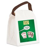 Rummy Expression Canvas Lunch Bag