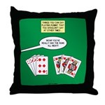 Rummy Expression Throw Pillow