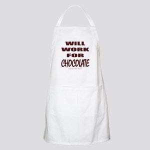 Will Work For Chocolate BBQ Apron