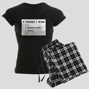 3 THINGS I WISH Women's Dark Pajamas
