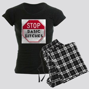 STOP BASIC BITCHES Women's Dark Pajamas
