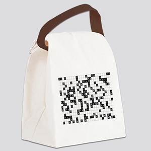 black white sudoku Canvas Lunch Bag