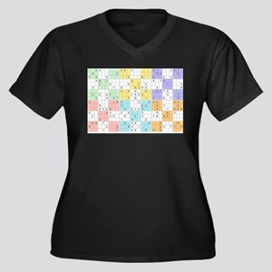 pastel sudoku Plus Size T-Shirt