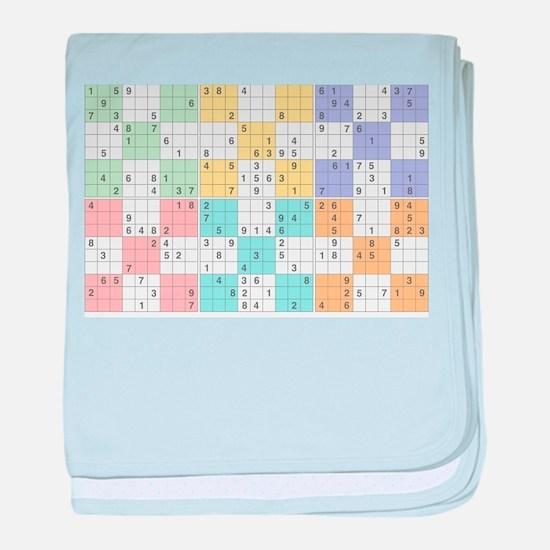 pastel sudoku baby blanket