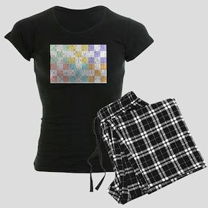 pastel sudoku Women's Dark Pajamas