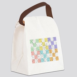 pastel sudoku Canvas Lunch Bag