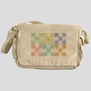pastel sudoku Messenger Bag