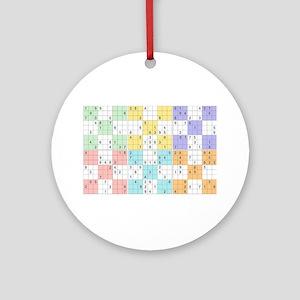 pastel sudoku Round Ornament